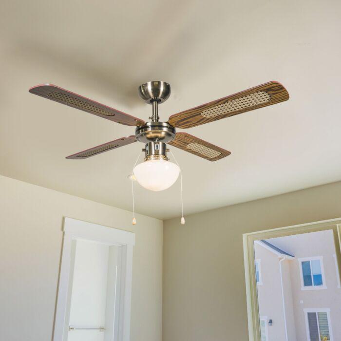 Industrialny-wentylator-sufitowy-z-oświetleniem-100-cm-drewno---Wind