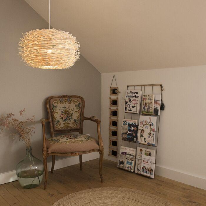 Rustykalna-lampa-wisząca-biała-rattan---Hatch-45