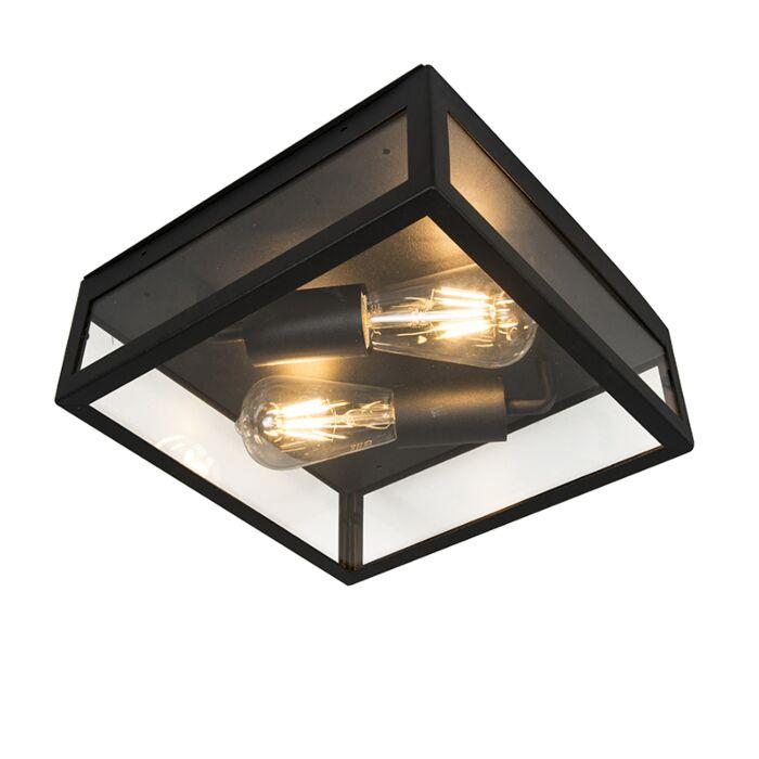 Industrialny-plafon-zewnętrzny-czarny-2-źródła-światła---Rotterdam