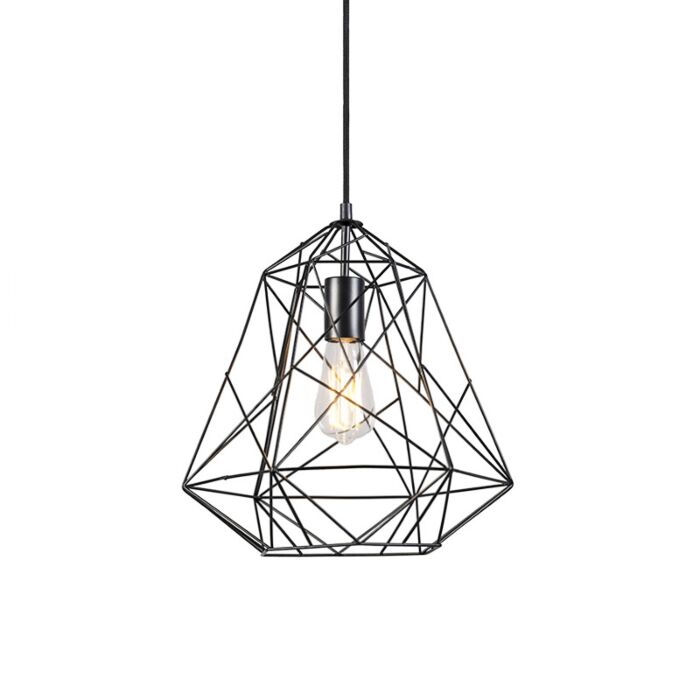 Przemysłowa-lampa-wisząca-czarna---Framework-Basic
