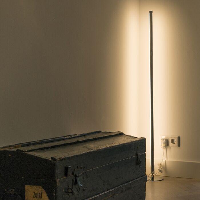 Nowoczesna-lampa-stojąca-LED-chrom---Line-up