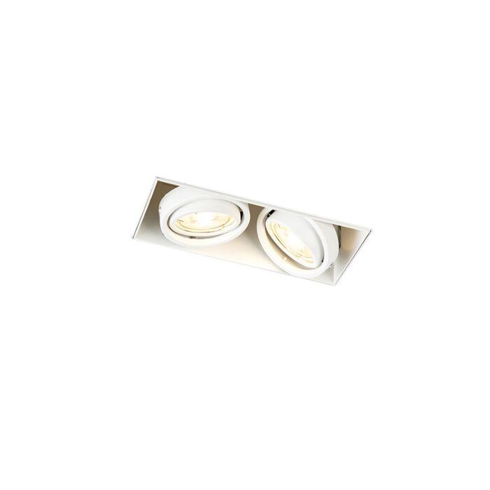 Oprawa-do-wbudowania-biała-bez-ramki-2-źródła-światła-GU10---Oneon