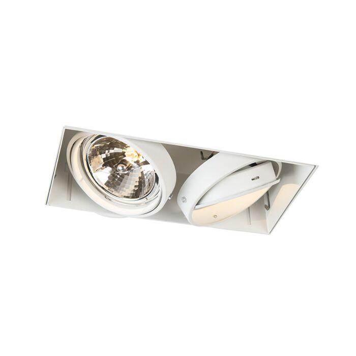 Oprawa-do-wbudowania-biała-regulowana-bez-ramki-2-źródła-światła-AR111---Oneon-111-2