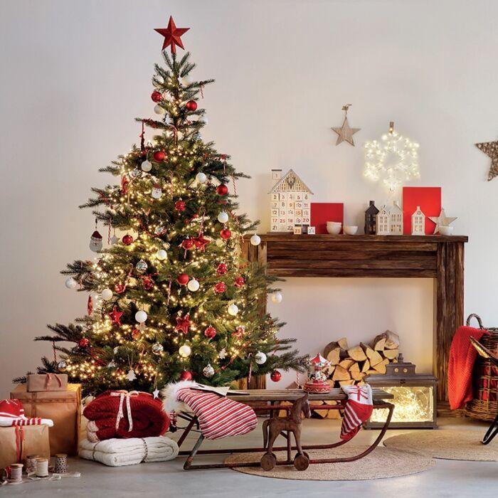 Choinka bożonarodzeniowa jasnozielona Den LED barwa ciepło biała 1,8 m |  Lampyiswiatlo