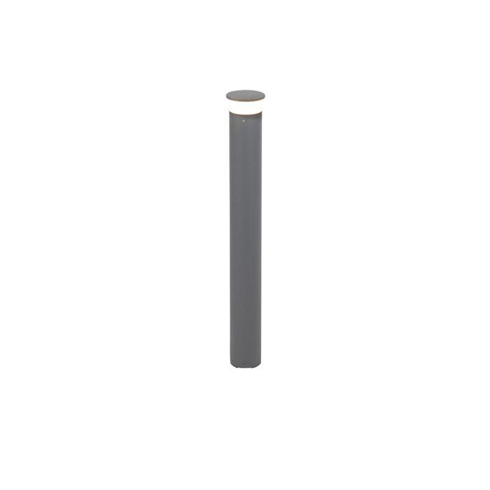 Nowoczesny-słupek-zewnętrzny-ciemnoszary-80-cm-z-diodą-LED