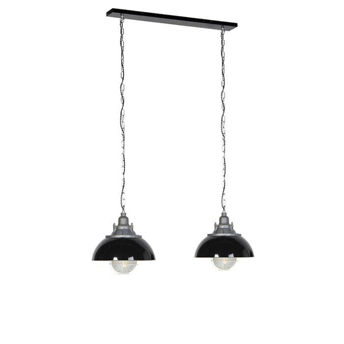 Industrialna-lampa-wisząca-czarna-2-źródła-światła---Nell