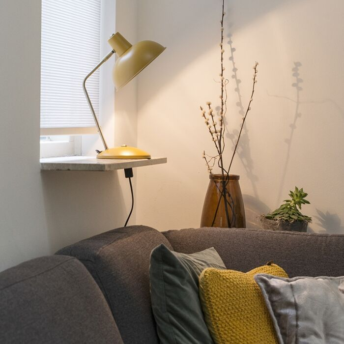 Lampa-stołowa-retro-żółta-brąz---Milou