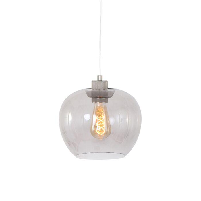 Nowoczesna-lampa-wisząca-stal-szkło---Lori