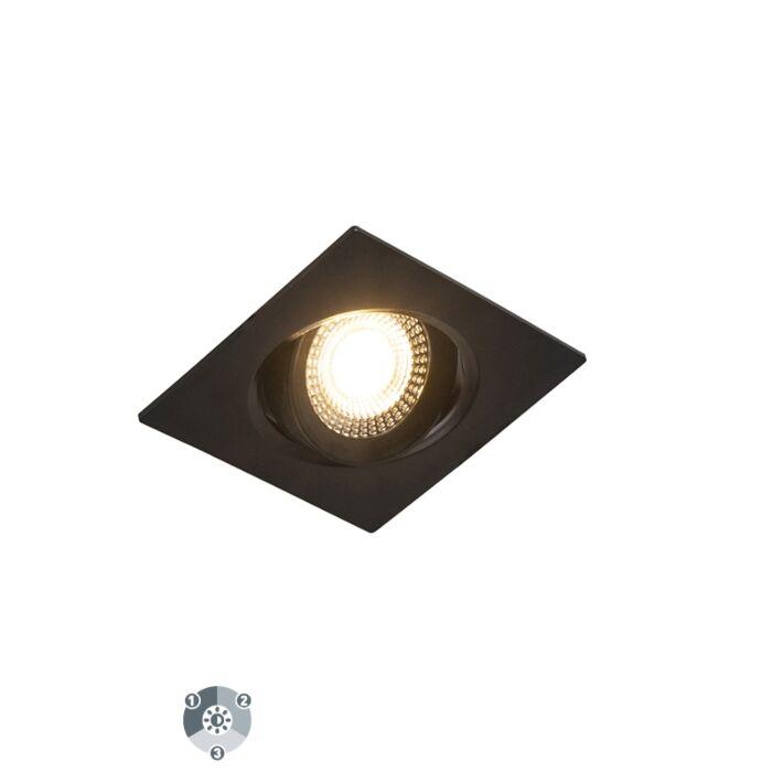 Zestaw-3-opraw-do-wbudowania-czarna-LED-3-stopniowe-ściemnianie---Miu
