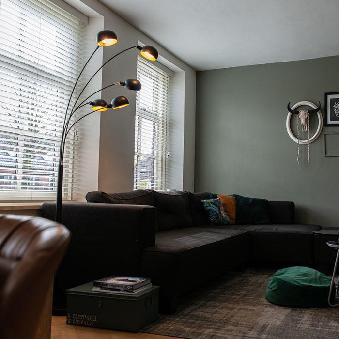 Designerska-lampa-podłogowa-czarna-5-źródeł---Sixties-Marmo