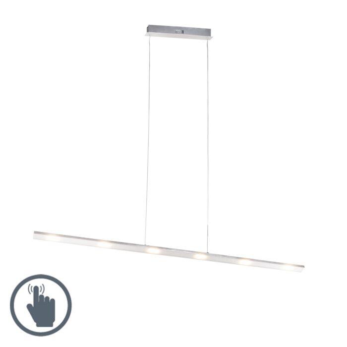 Designerska-lampa-wisząca-ze-stali-ze-ściemniaczem-dotykowym,-w-tym-LED---Platinum
