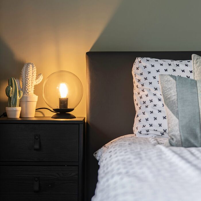 Lampa-stołowa-art-deco-czarna---Pallon
