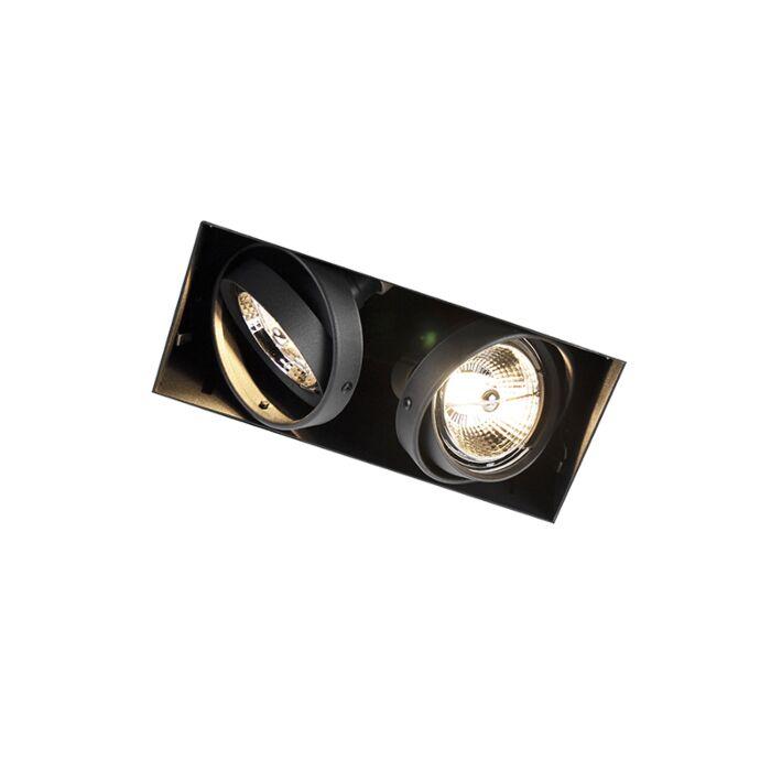 Oprawa-do-wbudowania-czarna-GU10-AR70-2-źródła-światła---Oneon-2