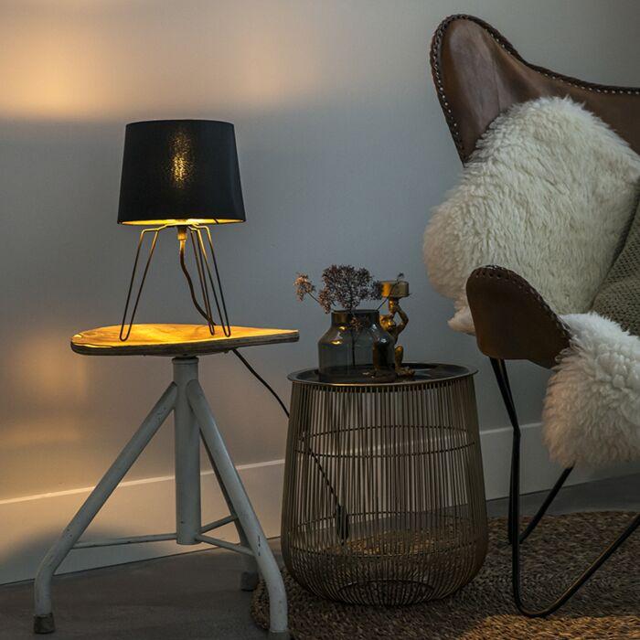 Nowoczesna-lampa-stołowa-czarna---Lofty