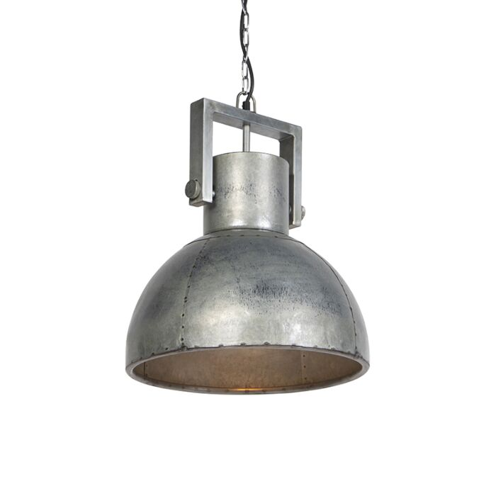 Przemysłowa-lampa-wisząca-szara-40cm---Samia