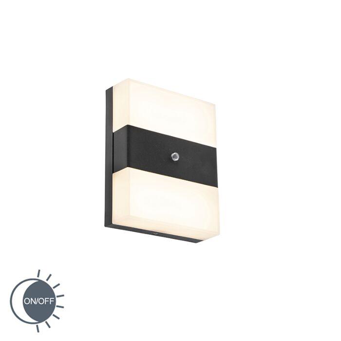 Kinkiet-zewnętrzny-czarny-IP44-LED-z-czujnikiem-zmierzchu---Dualy