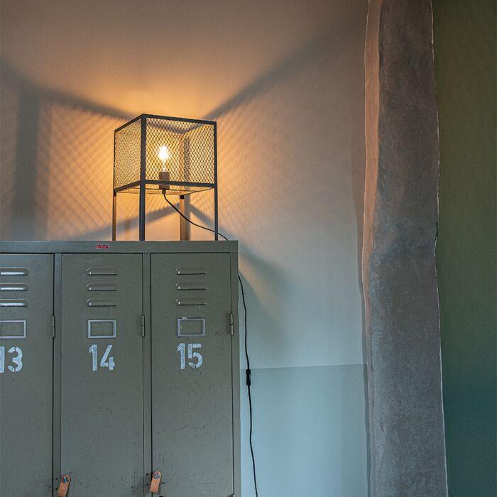 Przemysłowa-lampa-stołowa-antyczne-srebro---Cage-Robusto