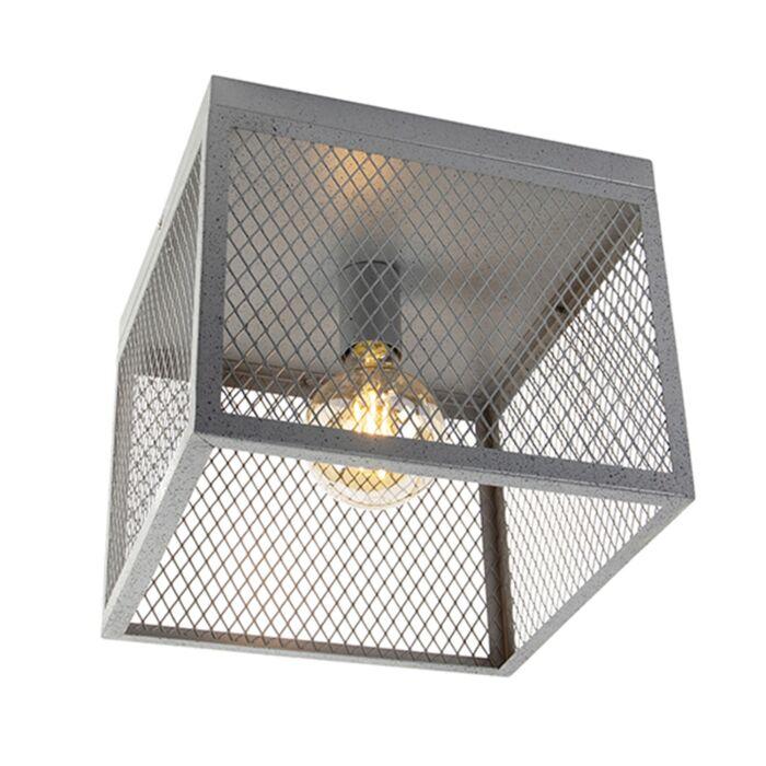 Przemysłowy-plafon-antyczne-srebro---Cage-Robusto
