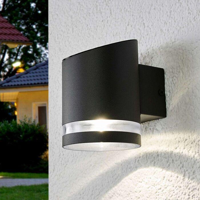 Kinkiet-zewnętrzny-antracytowy-z-diodami-LED-na-kolektorach-słonecznych---Melinda