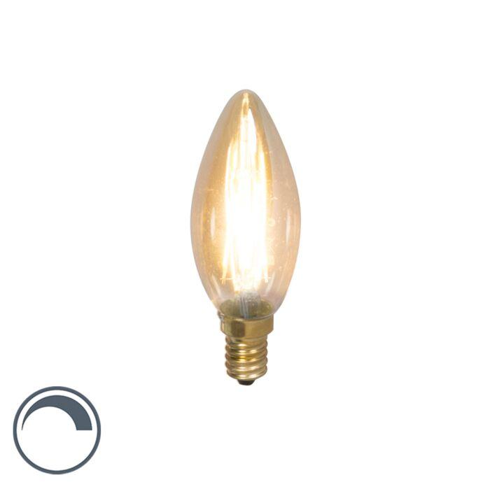 Żarówka-świeczka-LED-E14-filament-3.5W-200lm-2100K-ściemnialna