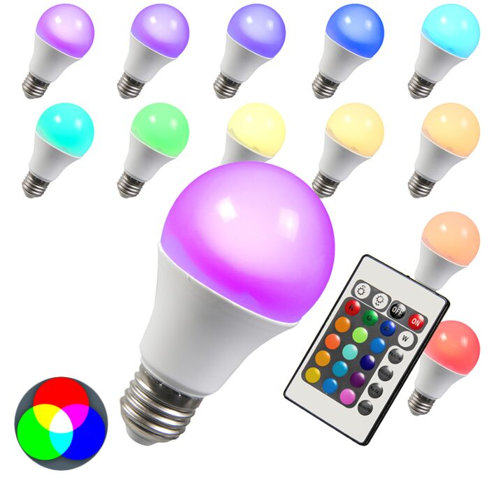 Żarówka-LED-RGB-E27-3W