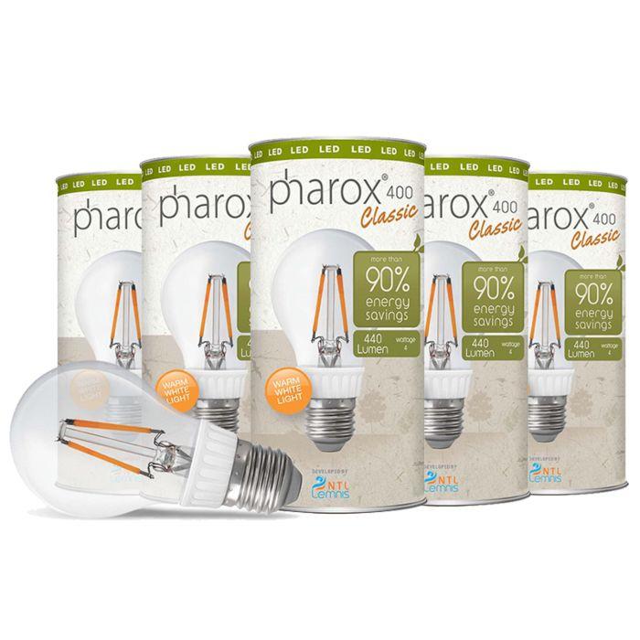Zestaw-5-żarówek-Pharox-LED-400-Classic-E27-4W