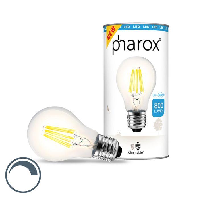Żarówka-Pharox-LED-przezroczysta-E27-8W-800-lumenów