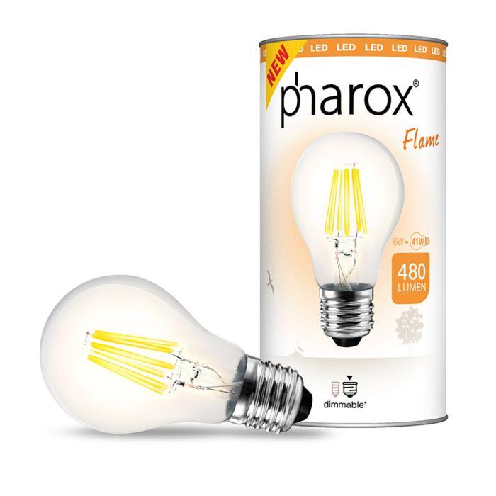 Żarówka-Pharox-LED-Flame-E27-6W-480-lumenów