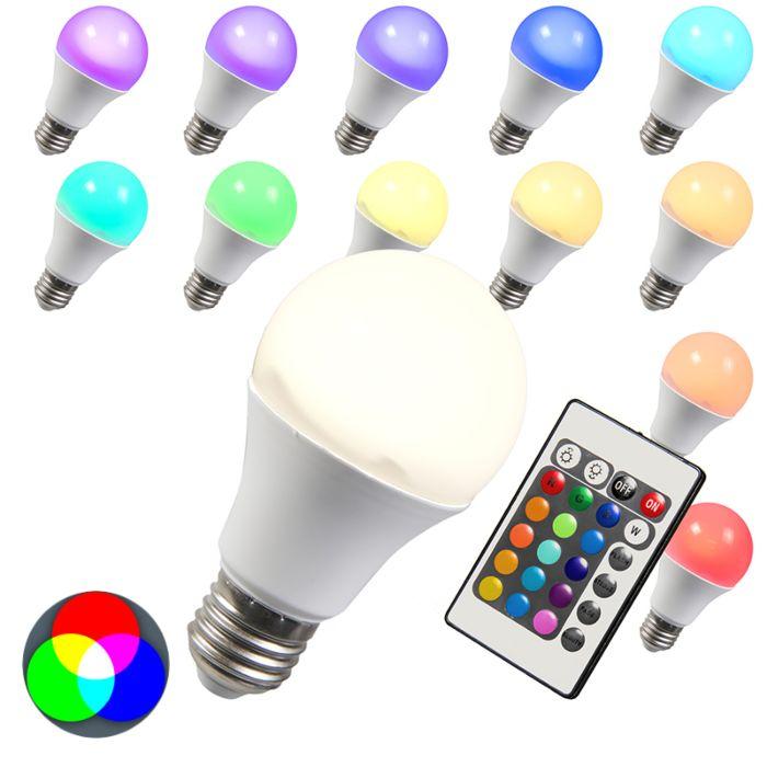 Żarówka-LED-RGB-E27-10W-+-extra-ciepło-biała