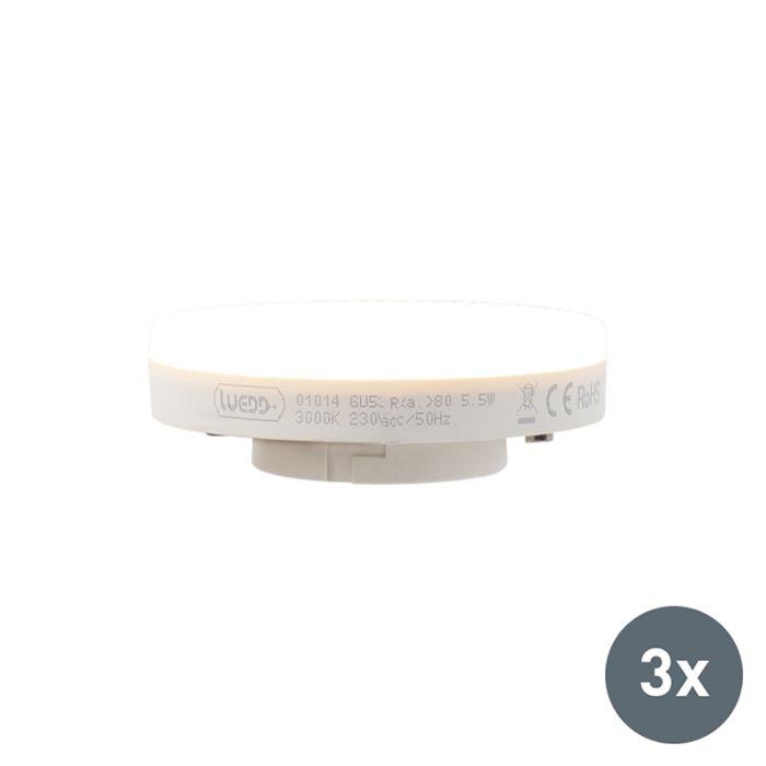 Zestaw-3-x-żarówka-LED-GX53-5,5-W-470-lm-3000K