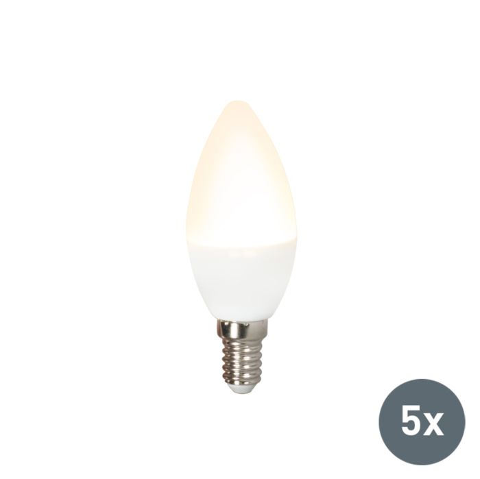 Zestaw-5-żarówek-LED-C37-E14-3W-3000K