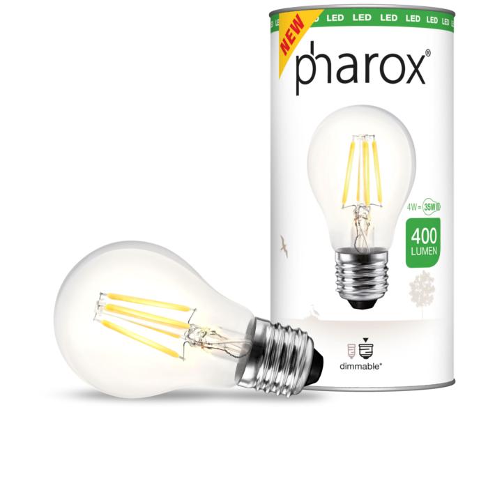 Żarówka-Pharox-LED-A60-Clear-400-lumenów