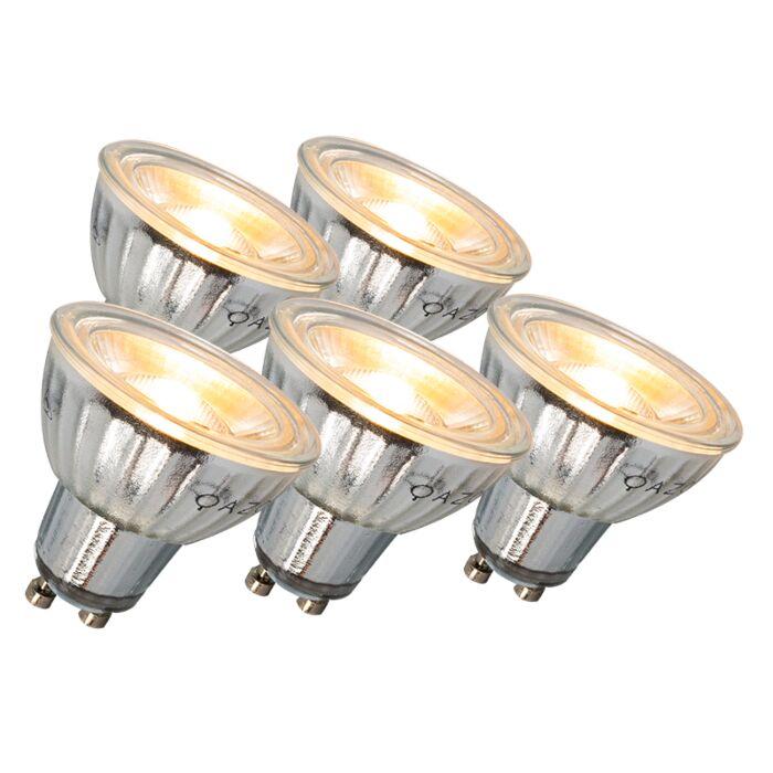 Zestaw-5-żarówek-LED-GU10-7W-500LM-3000K-ściemniane