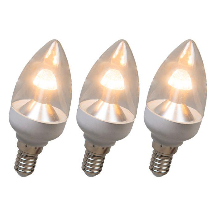 Zestaw-3-żarówek-LED-świeczka-E14-4W-250-lumenów-ciepłobiałe-ściemniane