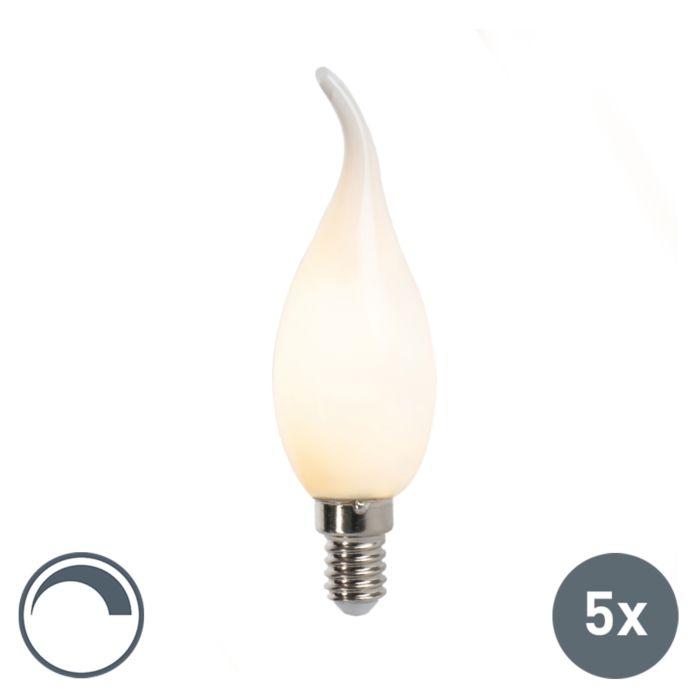 Zestaw-5-x-żarówka-świeczka-LED-E14-3W-250lm-F35-ściemnialna