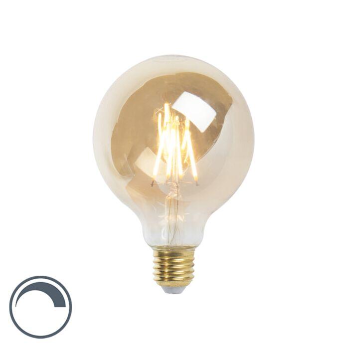 Żarówka-LED-E27-G95-goldline-360lm-2200K-ściemnialna