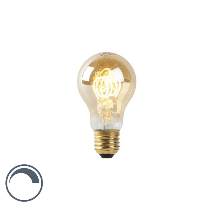 Żarówka-LED-E27-A60-4W-2200K-filament-złota-ściemnialna