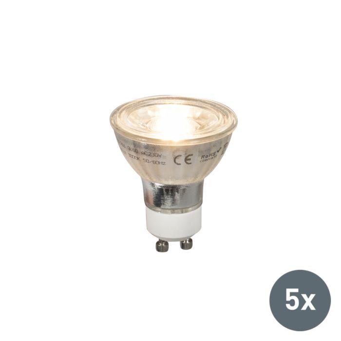 Zestaw-5-x-żarówka-LED-GU10-COB-5W-380LM-2700K