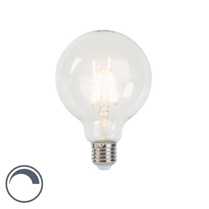 Żarówka-LED-E27-filament-G95-5W-450lm-2700K-ściemnialna-