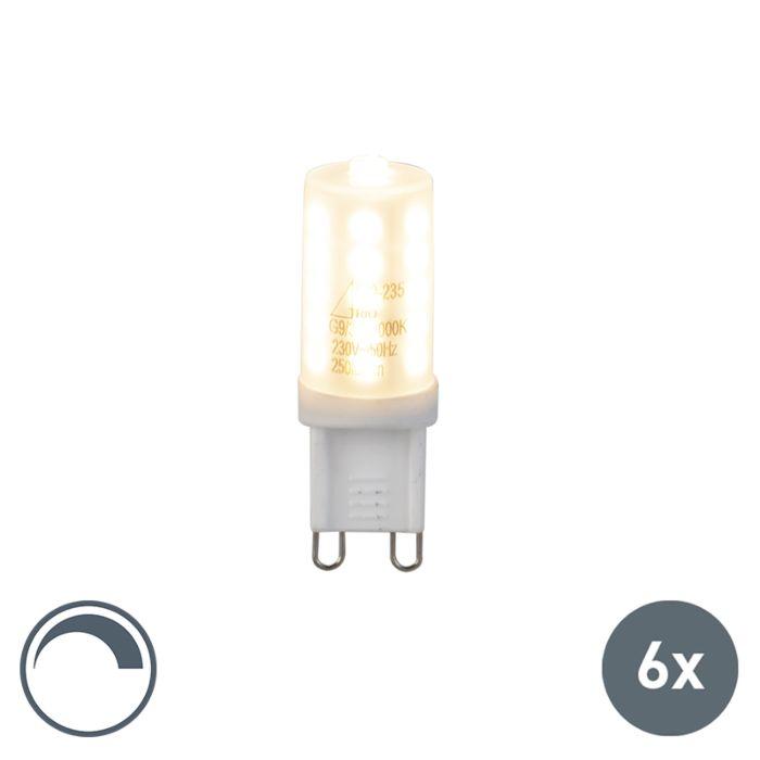 Zestaw-6-żarówek-G9-LED-3W-250Lm-ściemnialne