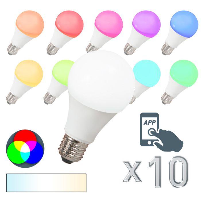 Zestaw-10-żarówek-LED-E27-240V-7W-500lm-A60-Smart-Light
