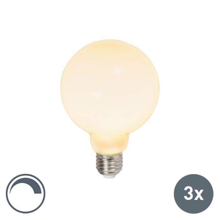 Zestaw-3-x-żarówka-kula-LED-E27-G95-6W-650lm-2700K-ściemnialna