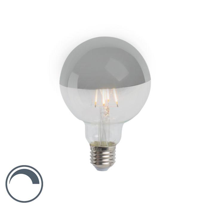 Żarówka-LED-kula-ze-srebrnym-lustrem-E27-240V-4W-280-lumenów-2300K-G95-ściemnialna