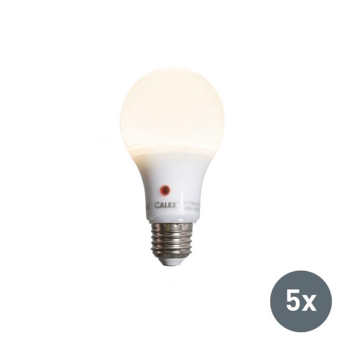Zestaw-5-żarówek-LED-A65-E27-8W-710-lumenów-z-czujnikiem