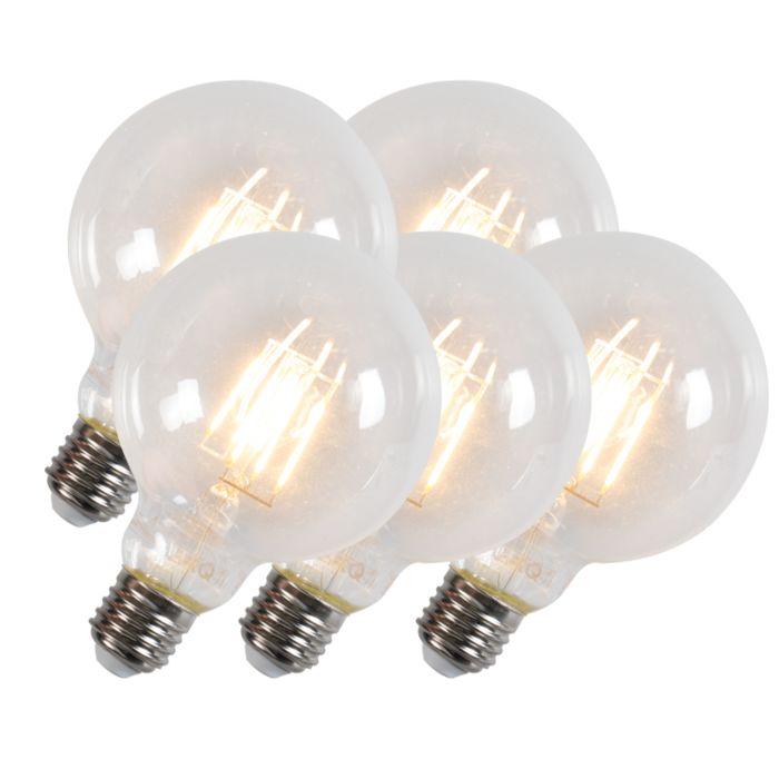 Zestaw-5-żarówek-Led-filament-z-żarnikiem-G95-E27-6W-600-lumenów