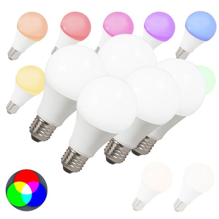 Zestaw-5-żarówek-LED-E27-240V-7W-500lm-A60-Smart-Light