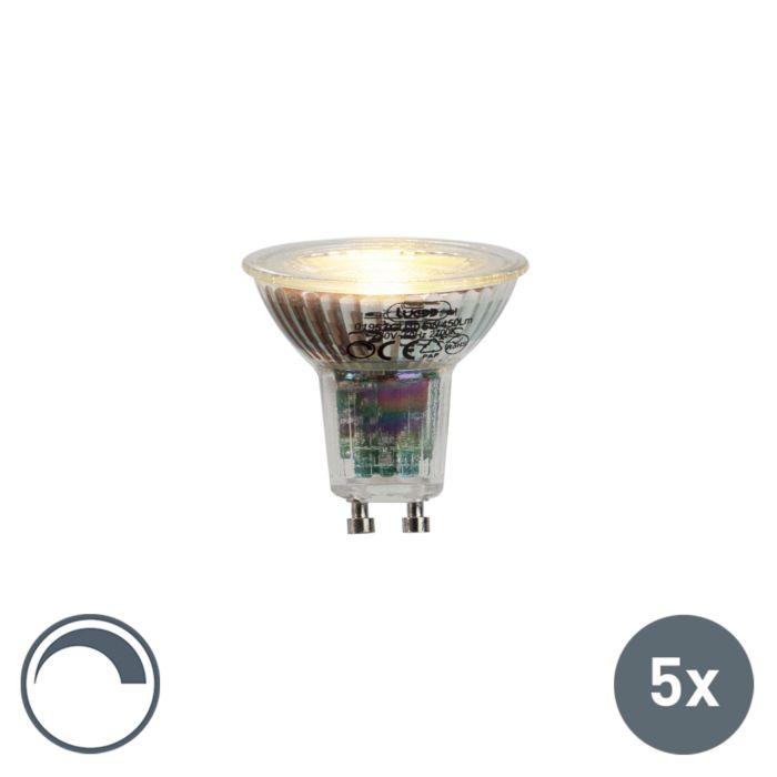 Zestaw-5-x-żarówka-LED-GU10-6W-450-lm-2700K-ściemnialna