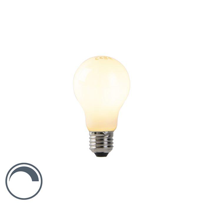 Żarówka-LED-A60-E27-7W-2200K-mleczna-filament-ściemnialna