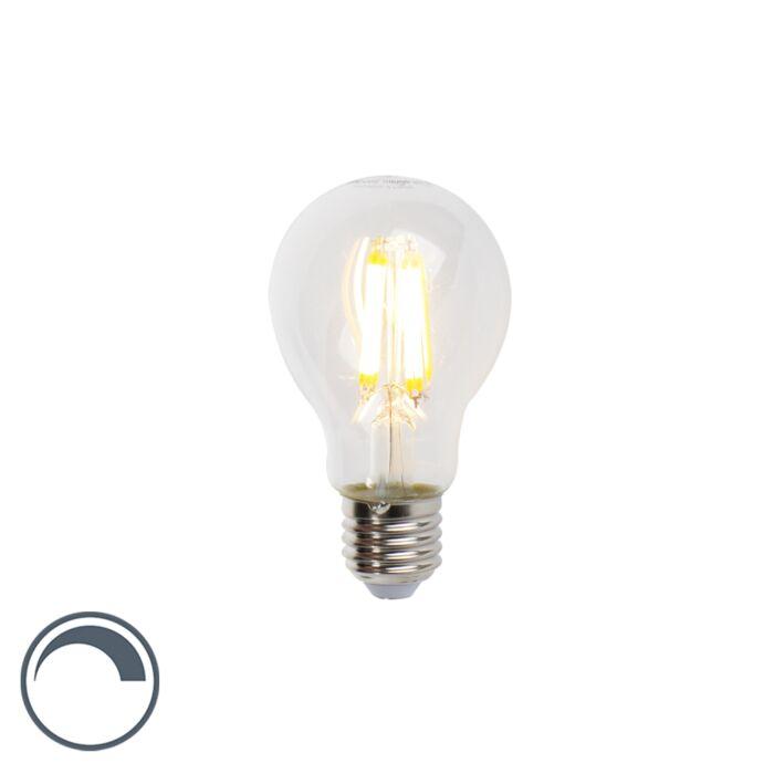 Żarówka-LED-E27-filament-7W-806lm-A60-ściemnialna-przezroczysta