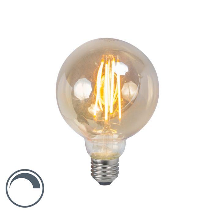 Żarówka-LED-E27-5W-2200K-G95-przydymiona-ściemnialna